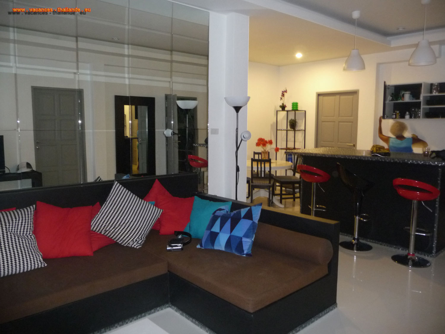 p33 location in July, June, August, May, September, April 3 bedroom home in the kitchen of the villa lounge bar in Koh Samui thailand